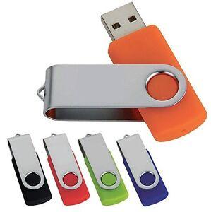 10X USB 2.0 Swivel Flash Pen Drive Stick 128MB 1GB 2GB 4GB 8GB 16GB Memory Stick