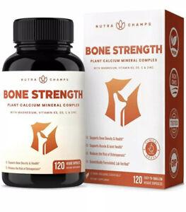 Bone Strength Supplement with Plant Based Calcium, Magnesium, Potassium, Zinc,