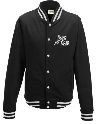 Voyous qui Not Dead campus sweatjacket black white