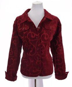 Croft-amp-Barrow-Womens-Tapestry-Scroll-Embroidered-Jacket-Blazer-Red-Sz-XL