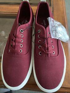 Burgundy Canvas Shoes Size