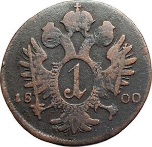 1800 AUSTRIA w Emperor Franz II Hapsburg Antique Kreuzer Austrian Coin i74541