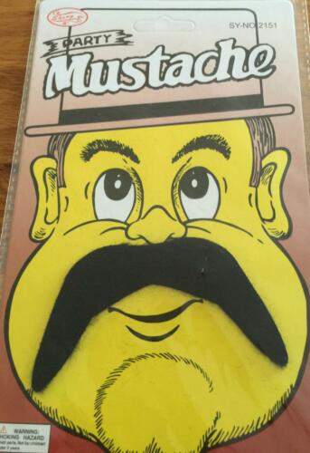 Fancy Dress Moustache for 70s 80s Stag Hippie Cowboy Mexican Outfit Costume