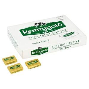 100 X Kerrygold Pure Irish Butter Portions Individuelles Papier Enroulé Hôtels B&b-afficher Le Titre D'origine Bonne RéPutation Sur Le Monde