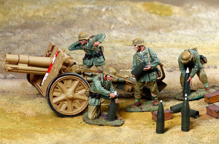 THE COLLECTORS SHOWCASE WW2 GERMAN DAK CS00870 SIG33 HOWITZER SET MIB