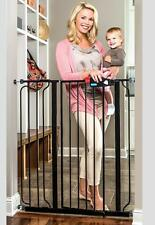Extra Tall Walk Through Baby Gate Infant Toddler Pet Black
