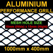 Black Aluminium Racing Grille Net Vent Race Car Tuning 100X33cm Mesh 25X8mm