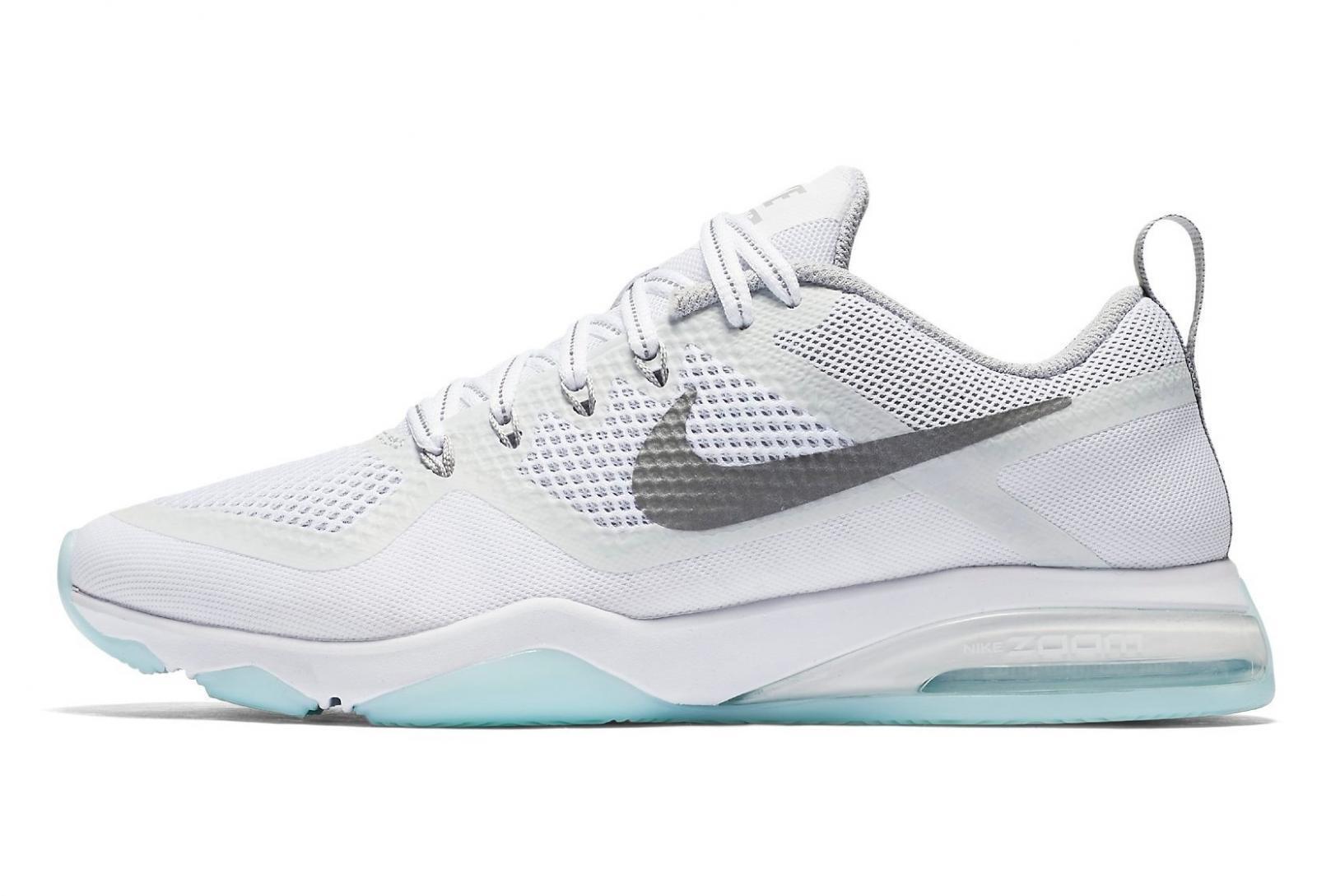 Damen Nike Air Zoom 922878 Fitness Reflektor Weiße Sportschuhe 922878 Zoom 100 ebe6a4