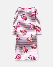 Joules Womens 211410 Bci Cotton Dress With 3/4 Sleeve - Purple Peony Stripe