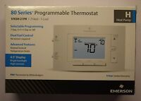 Emerson 80 Series Programmable Thermostat 4.5 Display 2 Hot 1 Cool 7 Day 5+1+1