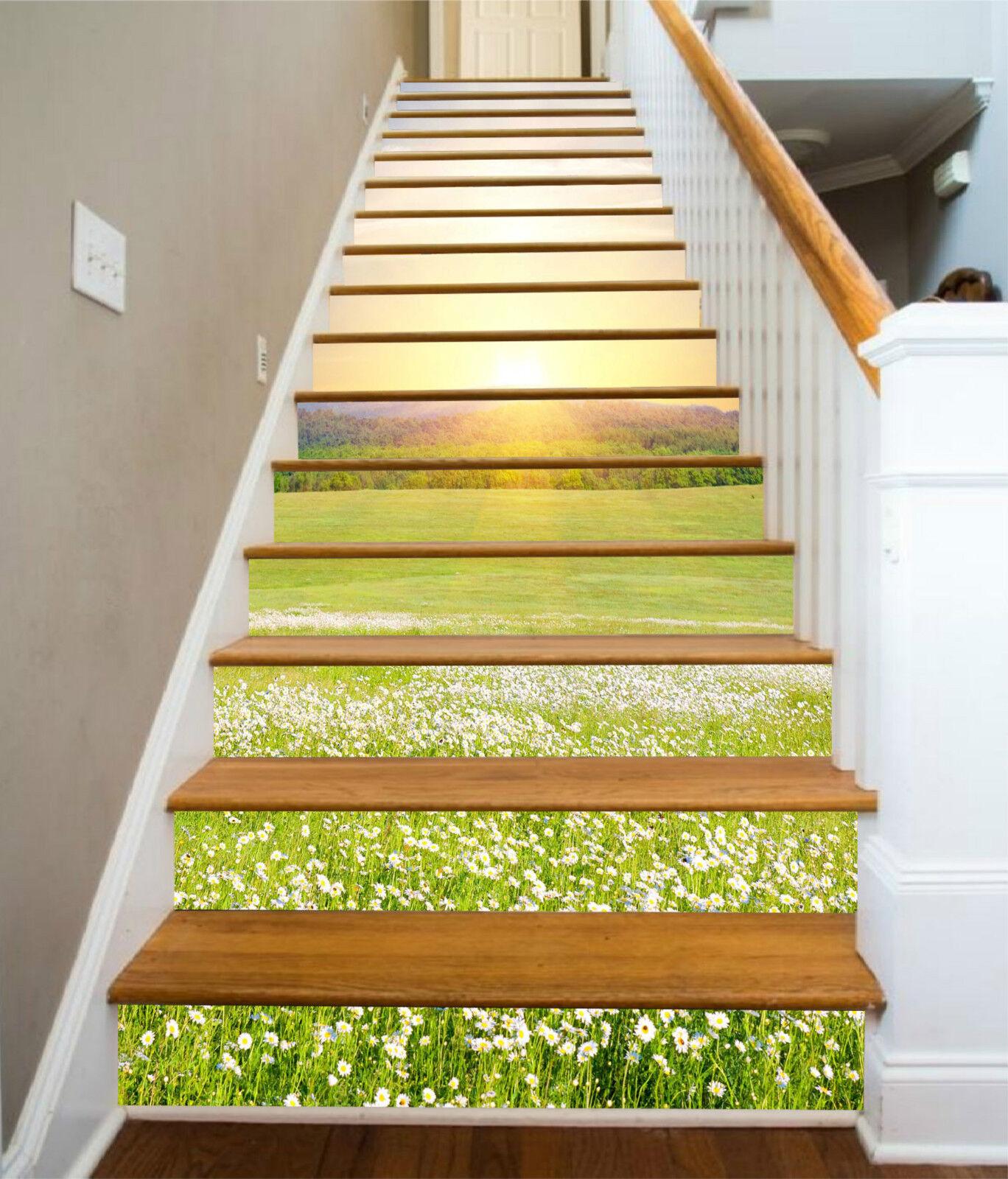 3D klar Blaume 582 Stair Risers Dekoration Fototapete Vinyl Aufkleber Tapete DE