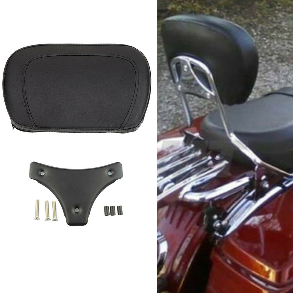Motorcycle Sissy Bar Backrest Pad Bracket For Harley Touring Road King Electra Glide 97-18,#2