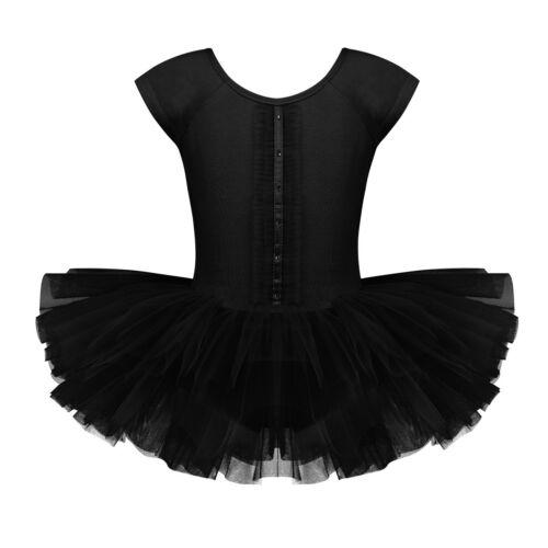 Kids Girls Ballet Ballerina Dance Dress Leotard Tutu Skirt Fairy Dancing Costume