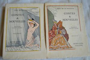 1929-Contes-et-nouvelles-la-Fontaine-ill-Daniel-Girard-edition-Cyral-numerote