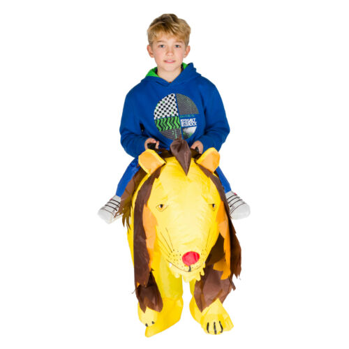 Kids Childrens Boys Girls Inflatable Animal Lion Fancy Dress Costume Outfit