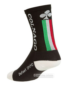 NEW Colnago by DeFeet AIREATOR Short Cuff Cycling Socks BLACK One Pair