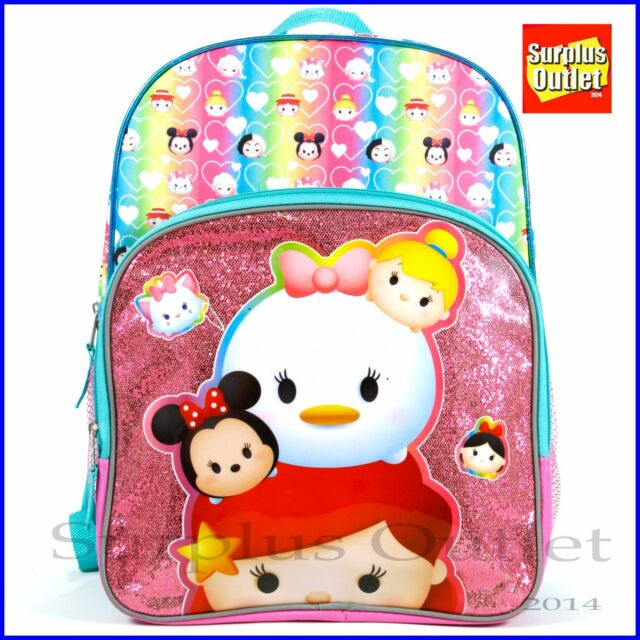 7521cf27f0 Disney Tsum Tsum Princess Tsums 16 Inch Backpack With Side Mesh Pockets