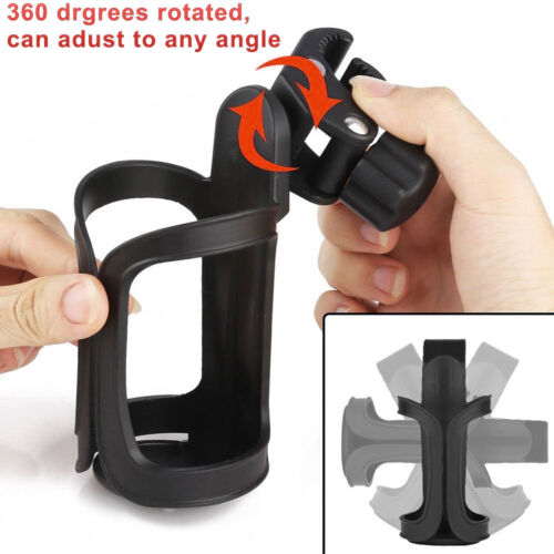Motorcycle Cycling Bike Handlebar Drink Water Bottle Cup Holder Mount Cage Black