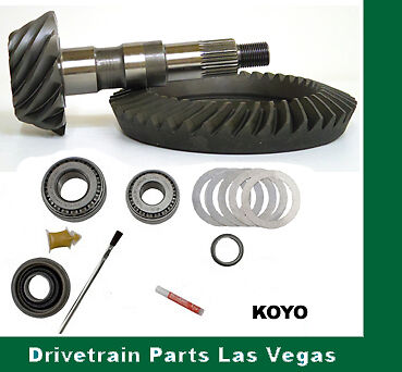 DTPLV Gear Dana 35 M35 Premium Ring and Pinion Gear Set 4.11 Ratio Install Kit