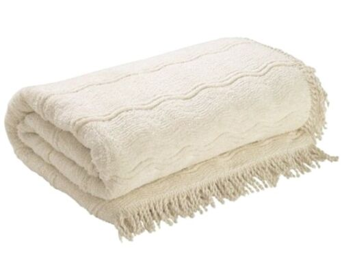 Candlewick Bedspread Luxury Traditional Bed Throw Single,Double,King