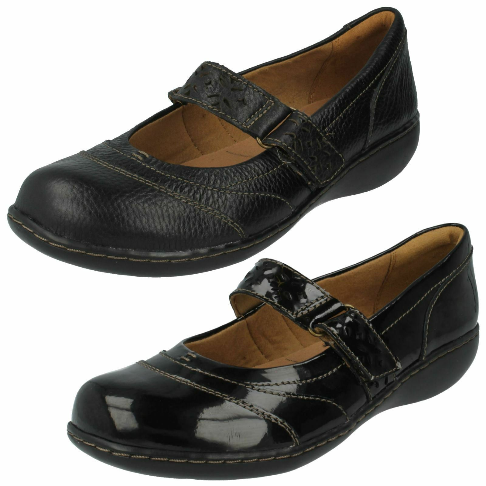 Ladies Mary Jane Style Clarks- Embrace Lux- 2 Colours- Great Price