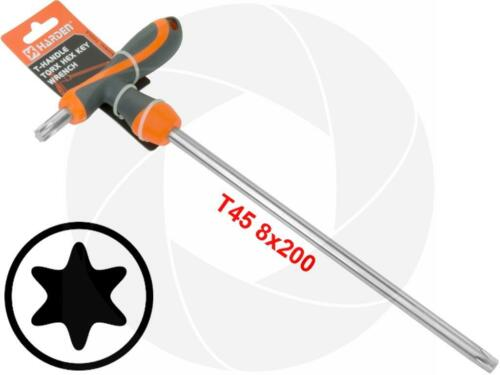 T45 T-Handle Torx Torque Solid 6 Point Star Key CRV TPR Long Screwdriver Wrench