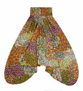 Farbenfrohe-Pumphose-Shalwar-Groesse-38-40-buntes-Maori-Muster-aus-INDIEN