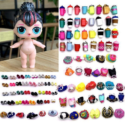 LOL Surprise Spice glam glitter series with Random dress shoes Bottle 1 2 3 rare