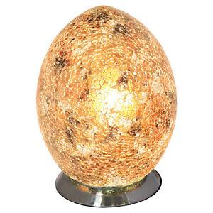 Yellow Glass Mosaic Egg Lamp