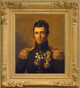 Old Master Art Man Portrait Pyotr Kaptsevich Oil Painting Canvas Unframed 24x30