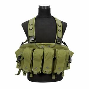 Combat-Vest-Camouflage-Tactical-Airsoft-Ammo-Chest-Rig-Magazine-Carrier-Military