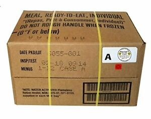 MRE A-Menu Case 2018 Inspection Date Military Meal-Ready-to-