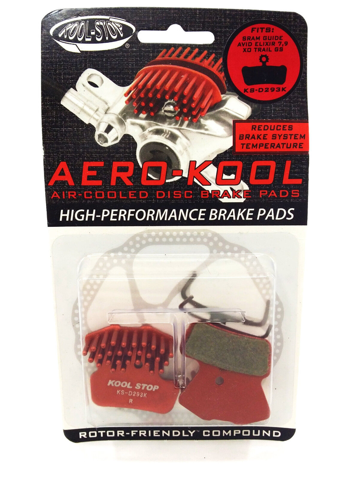 NEW Kool-Stop Aero-Kool Disc Brake Pad Avid XO Trail SRAM Guide Avid Elixir 7 9