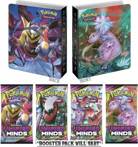 Pokemon TCG Sun /& Moon Unified Minds Mini Binder Portfolio Collectors Album /&...