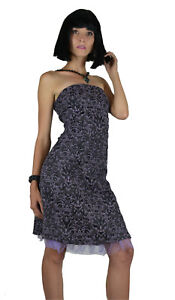 tripp gothic ball corset vintage brocade lavender