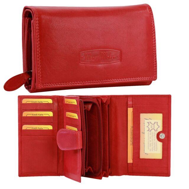 0613bbfc3d84b Geldbörse Leder rot Damen Portemonnaie Kellnerbörse OPJ704R  Money Maker