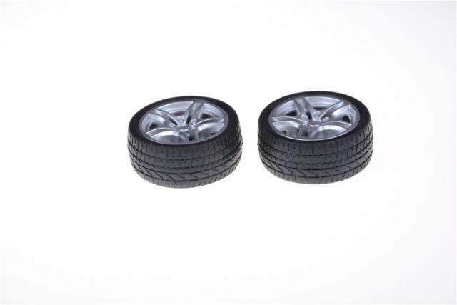 2pcs 48*19mm Rubber RC Car Tire Toy Wheels Model Robotic DIY Trucks  xc