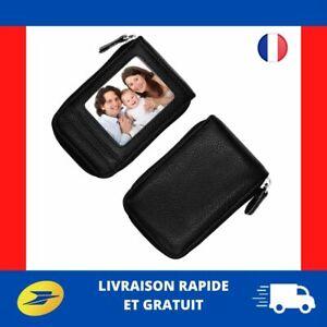 Porte-Carte-Credit-Cuir-RFID-Homme-Femme-etui-portefeuille-carte-de-fidelite