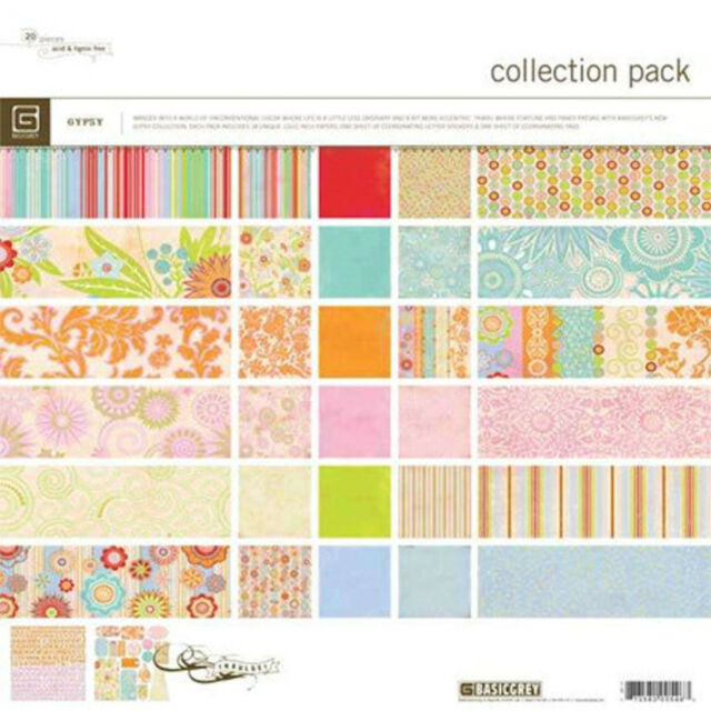 BasicGrey ROMANI COLLECTION PACK scrapbooking PAPERS/ TAGS/ ALPHA STICKERS