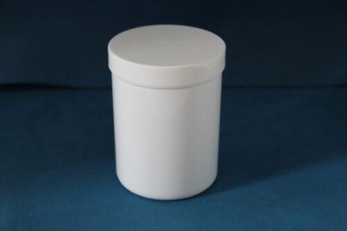 50 x 250 ml en plastique blanc stockage bocaux avec bouchon à vis 65x90mm