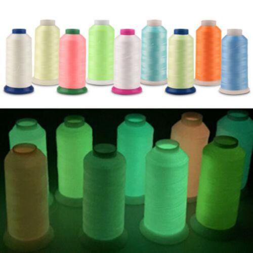 3000Yards Spool Sewing Thread Luminous Glow In the Dark Machine Hand Embroidery