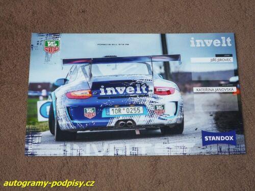 Jiri JIROVEC - Porsche 997 GT3 RS Karte//card cca 13x20 cm 2017