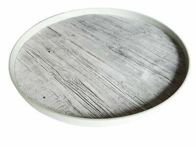 FleißIg Zak Designs Fjord Tablett Rund Treibholzoptik 36 Cm Aus Melamin Produkte Werden Ohne EinschräNkungen Verkauft Sonstige Haushaltsgeräte