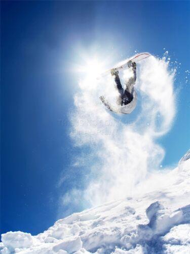 ART PRINT POSTER PHOTO SPORT SNOWBOARDING JUMP AIR SUN SNOW PICTURE LFMP1262