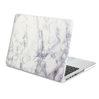 "Hard Case Print Frosted-White Marble Pattern Cover 11 12 13 15""Macbook Pro/Air"