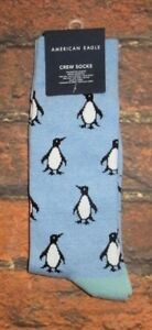 MENS-AMERICAN-EAGLE-PENGUIN-BLUE-SOCKS-ONE-SIZE