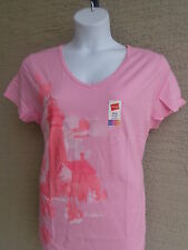 NWT Womens Hanes Live Love Color Cotton S//S Crew Neck Tee Shirt 2XL Blue Jay