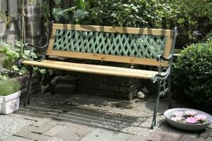 FAUTEUIL JARDIN MOBILIER FONTE ET BOIS NEUF chaise salon decoration ...