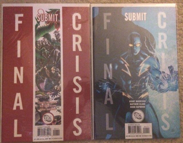 FINAL CRISIS SUBMIT #1A #1B (2 comics) Grant Morrison (2008) DC VF/NM