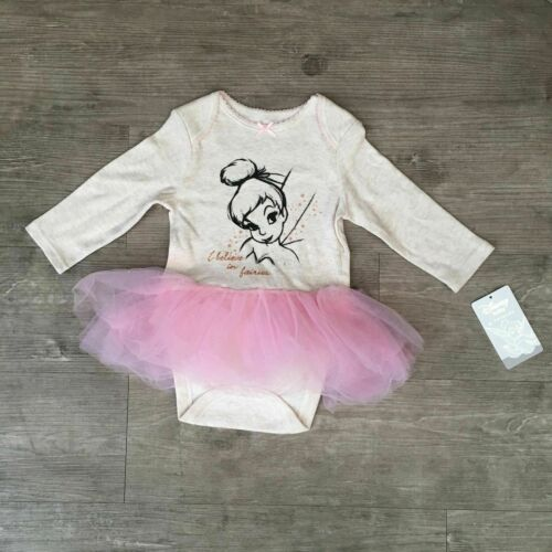 Baby Girl Tinkerbell Tutu Babygrow Bodysuit Fancy Dress Costume